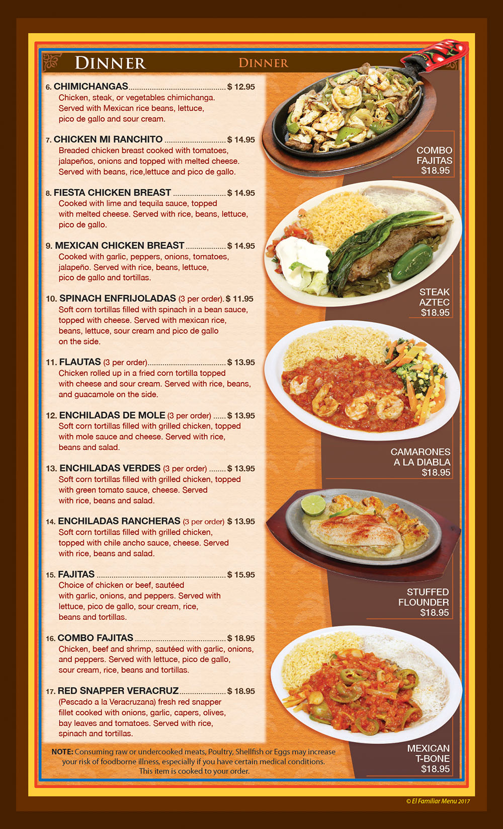 El Familiar Menu Page 2