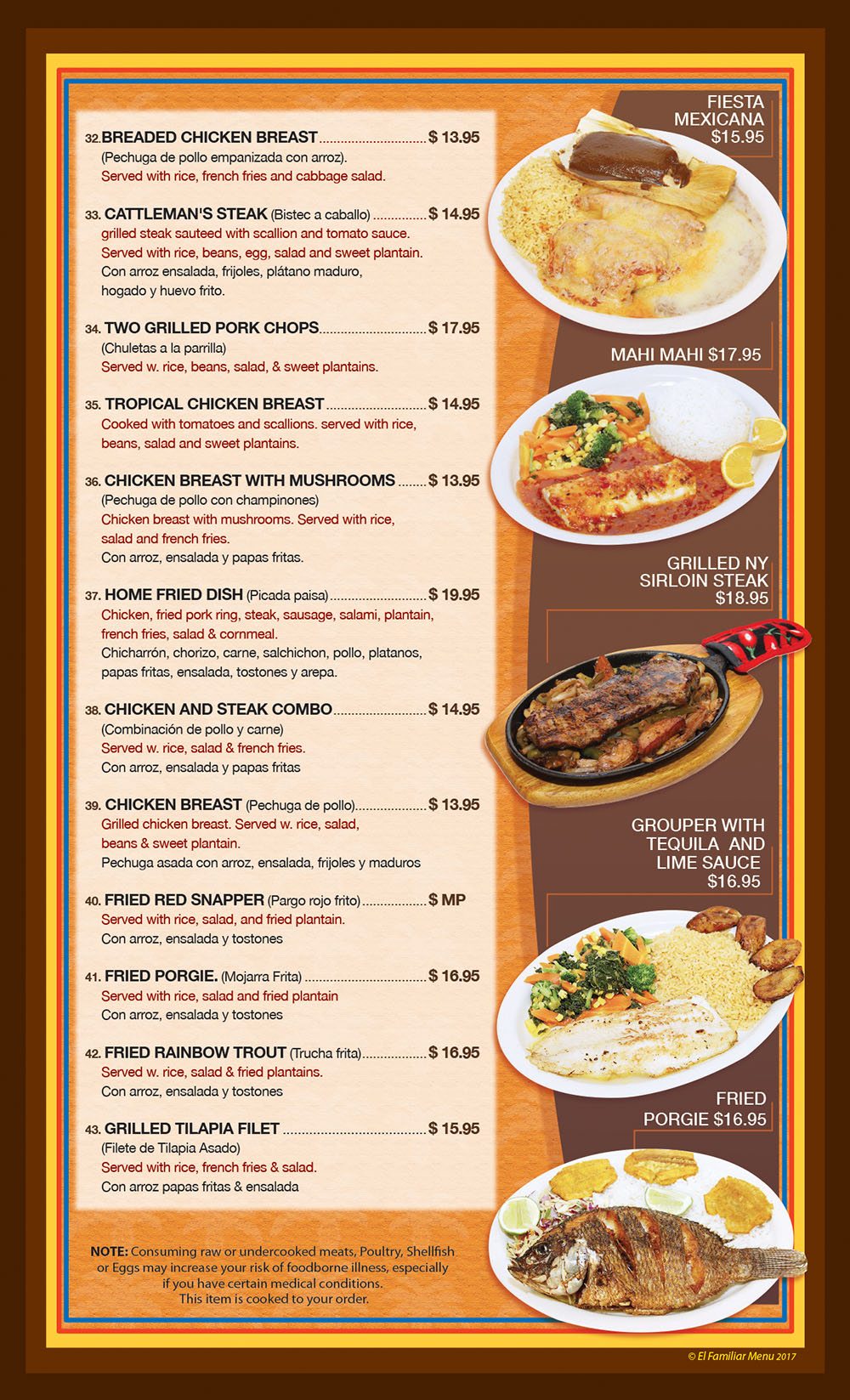 El Familiar Menu Page 4
