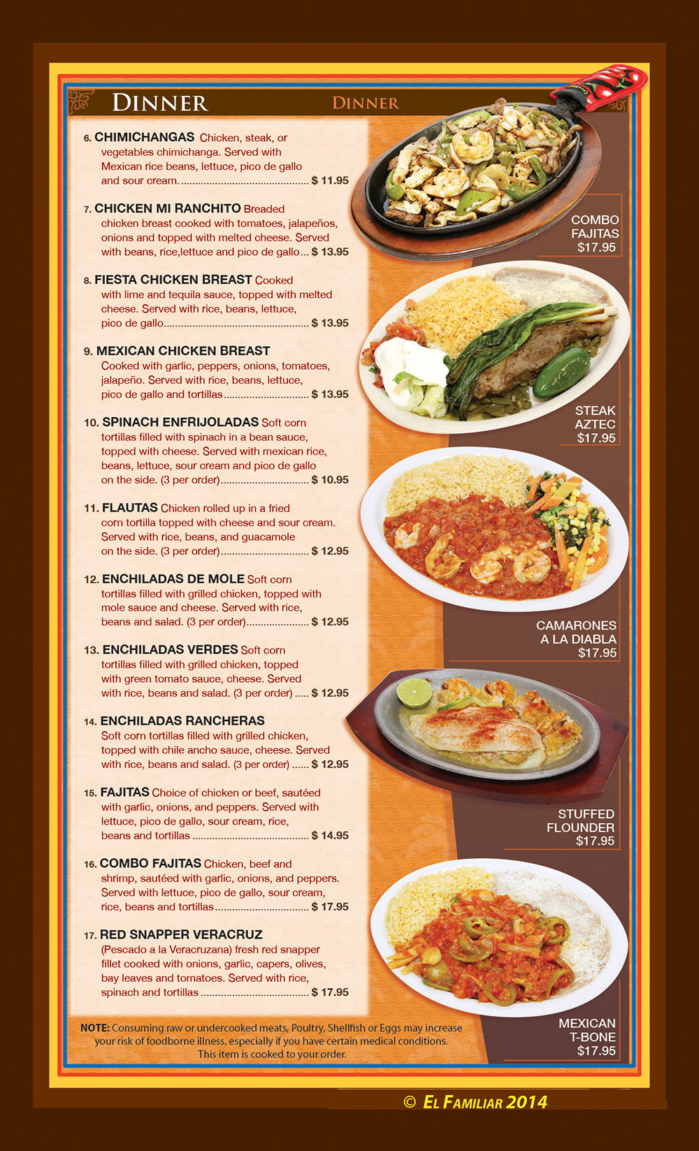 El familiar menu page 2