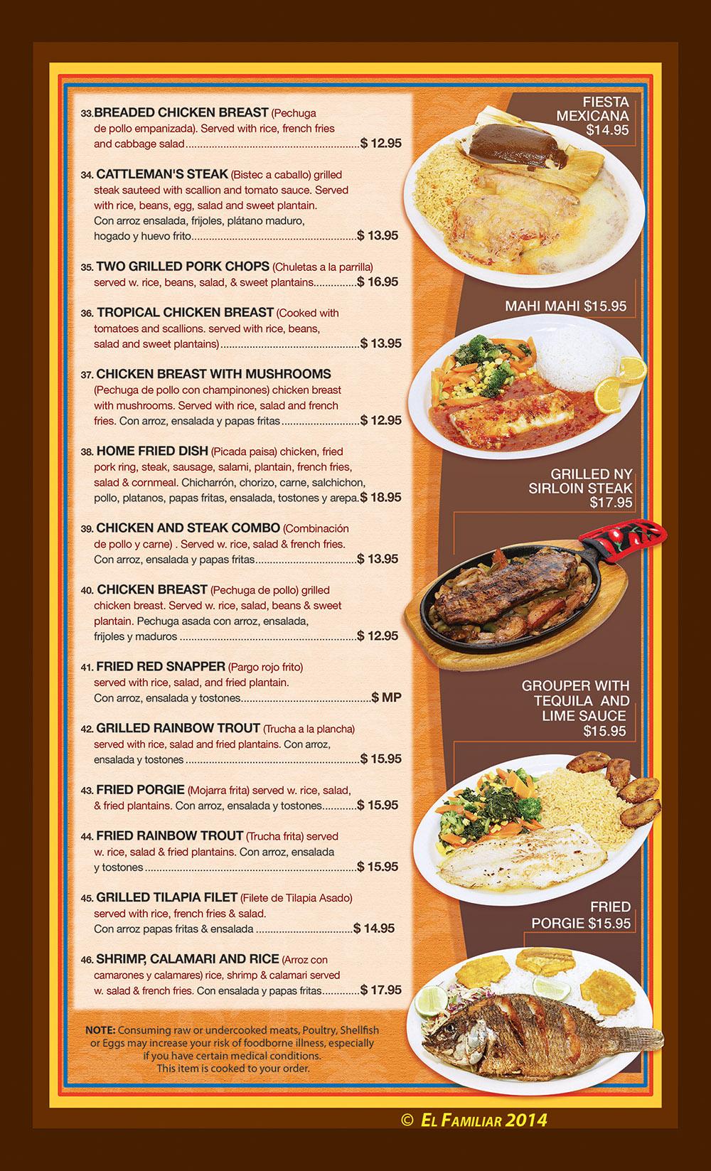 El familiar menu page 4