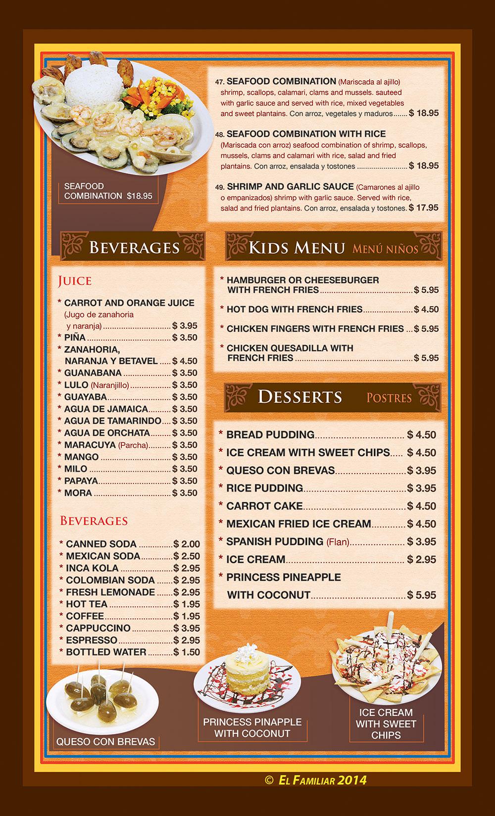 El familiar menu page 5